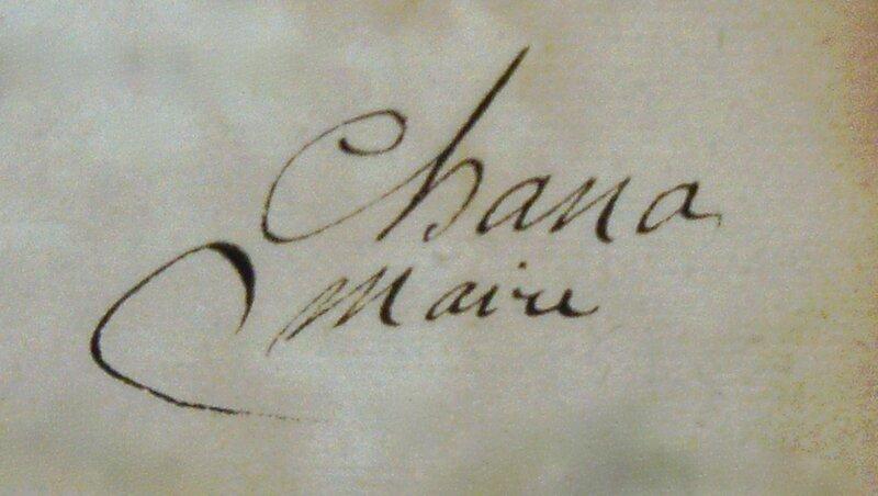 Chana signature 1793