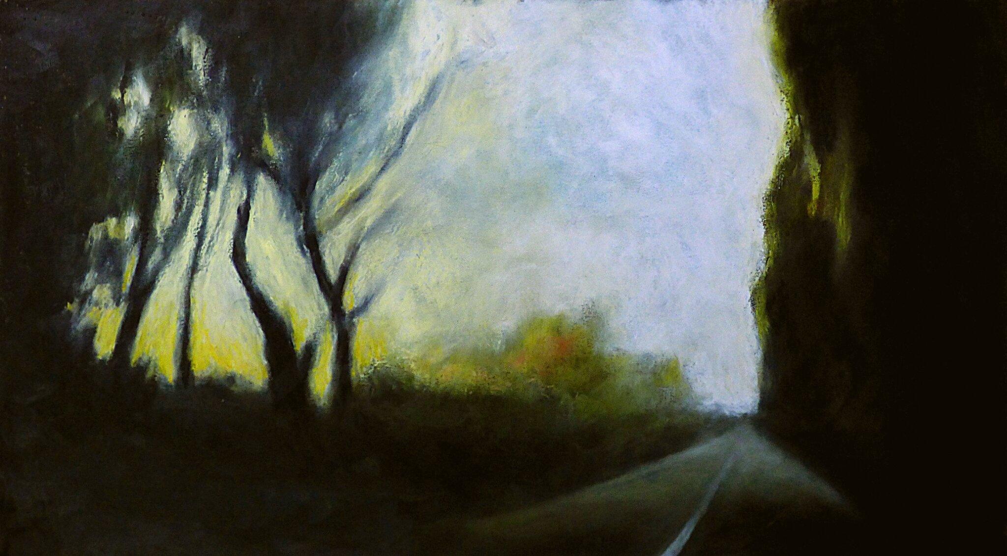 k nowhere 94, 2017, pastel à l'huile, 64 x 35 cm