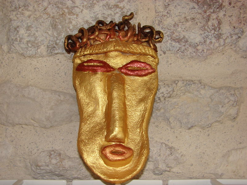 MASQUE AFRICAIN PATE A SEL