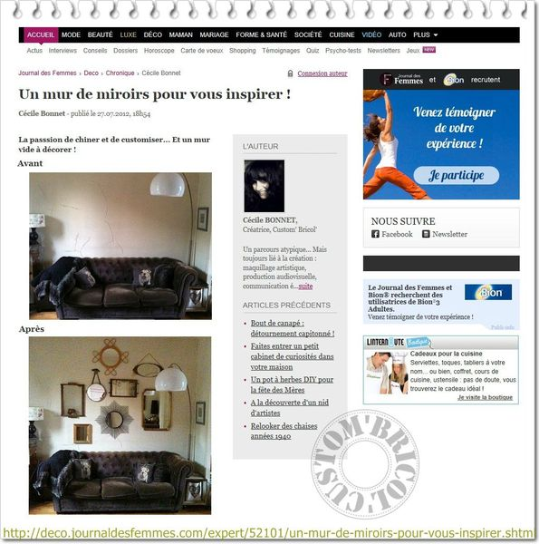 Chronique JDF du 01-08-2012