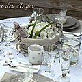 Nuit des anges décoratrice de mariage décoration de table lin 006