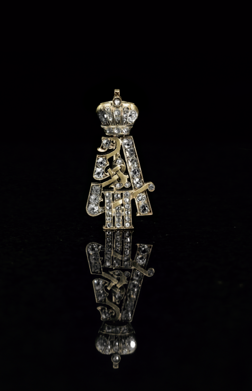 An Important Jeweled Silver-Gilt Imperial Presentation Brooch By F