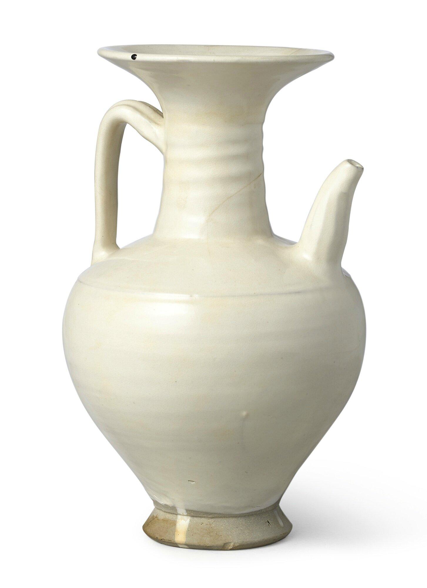 A 'Cizhou' white-glazed ewer, Northern Song dynasty (960-1179)
