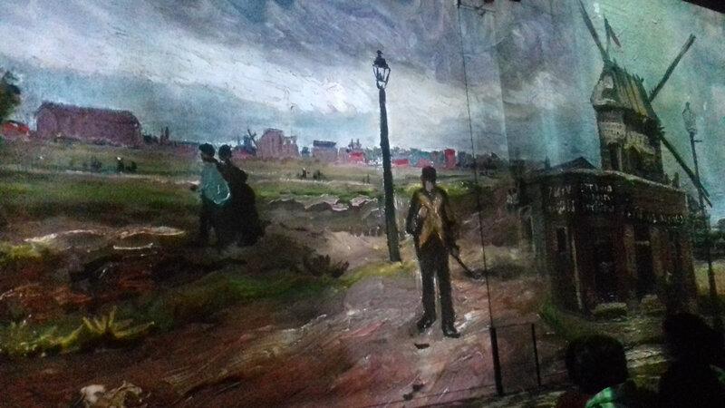Ateliers des lumières LA BANLIEUE MONTMARTRE Van Gogh