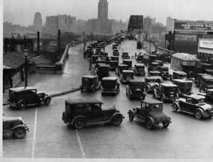 Trafic a detroit en 1930