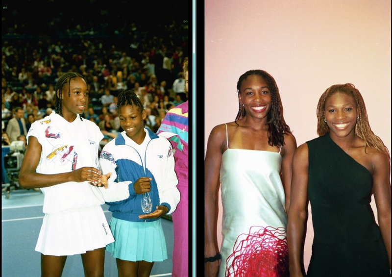 Venus and Serena 1993 and 2001 (from Laurel Maryland, USA)