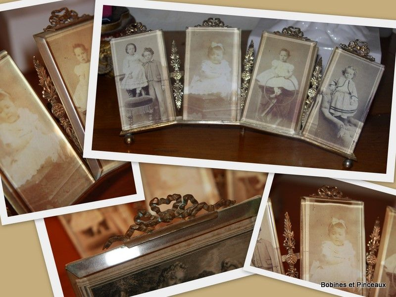 porte-photos ancien 4 verres