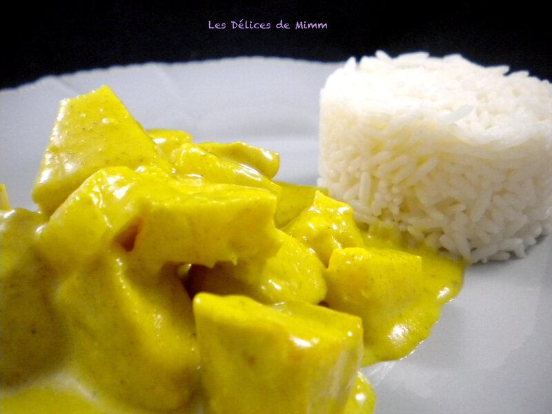 Poulet au curry et à l'ananas 2