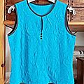 Top sans manches turquoise