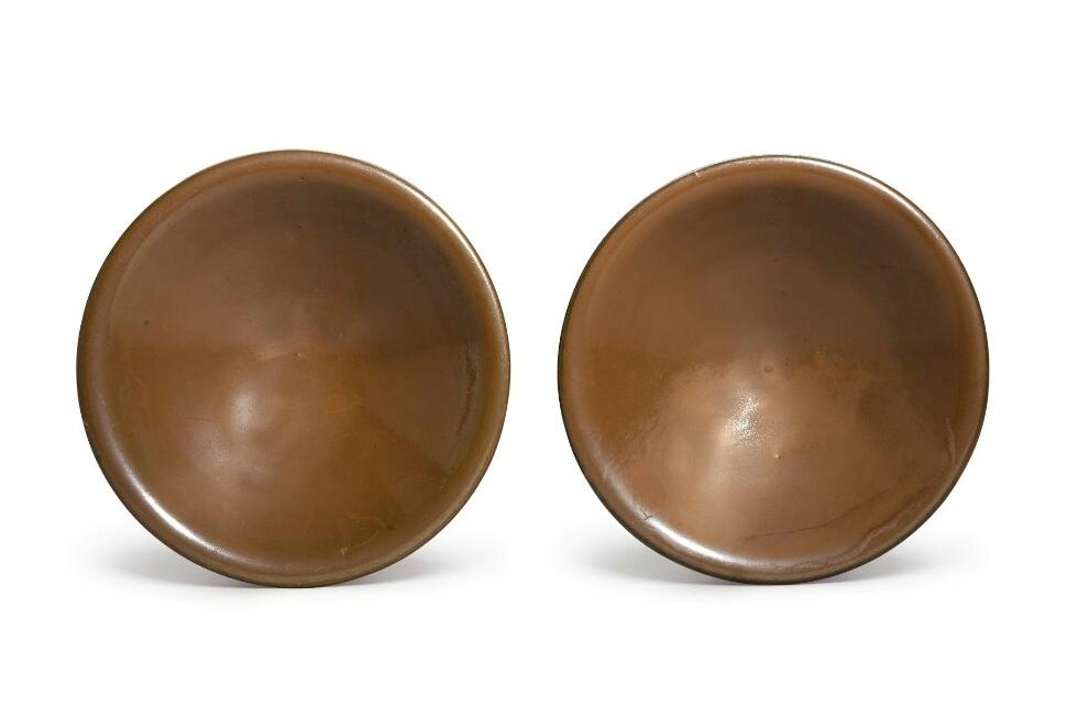 A pair of 'Yaozhou' persimon-glazed dishes, Northern Song dynasty (960–1127)