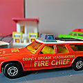 Matchbox, le modèle dodge monaco estate en version pompier ! une miniature vintage de 1978...