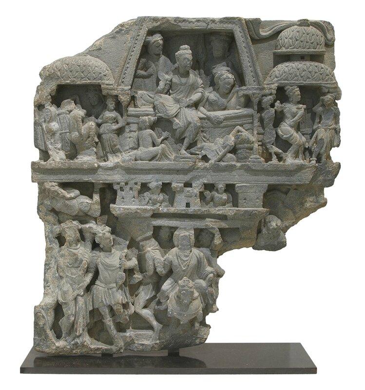 Gandhara Relief Schist 21 34 x 20 x 6 in