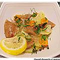 Salade de hareng fume aux pommes de terre