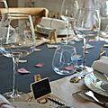 La table de rentrée