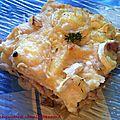 Lasagnes aux asperges, jambon, champignons et chèvre