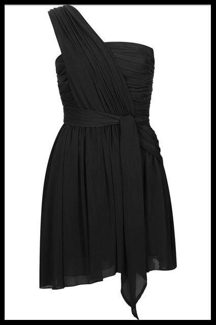 topshop kate moss robe noire