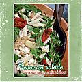 Penne rigate en salade : artichaut, tomates confites & halloumi