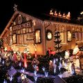 ILLUMINATED HOUSES AT XMAS AND PAINTINGS