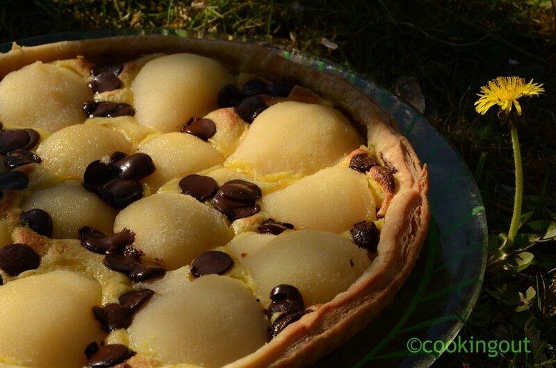 tarte-safran-poire-chocolat