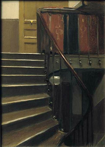 Edward Hopper Escalier au 48 Rue de Lille Paris 1906