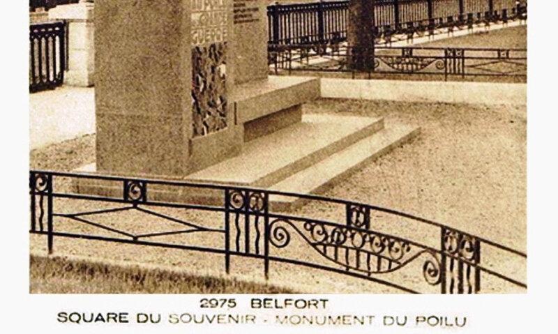 CPA Belfort Poilu Grille 1930-35 RR
