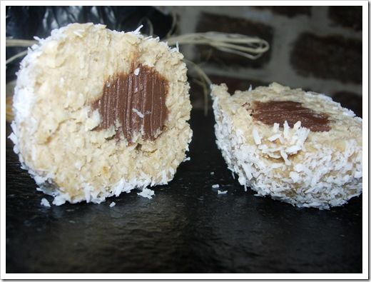 Boule coco fourrée ganache chocolat (5)
