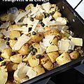 Salade de pommes de terre, vinaigrette à la chouffe