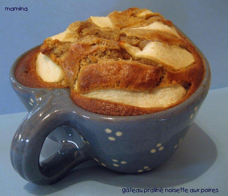 gâteau praliné noisettes aux poires