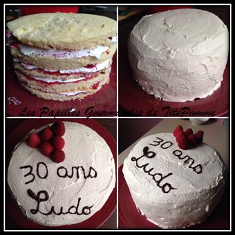 gâteau à étages aux framboises-3