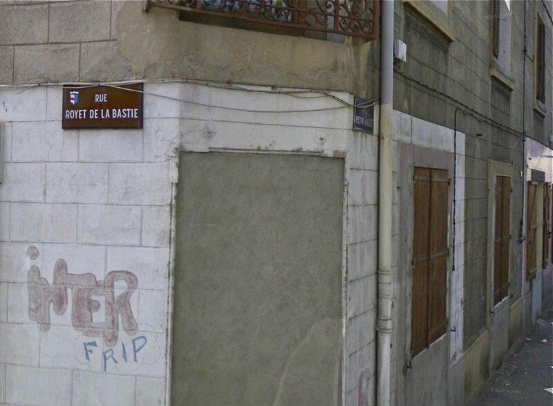rues Petin Gaudet et Royet de la Bastie