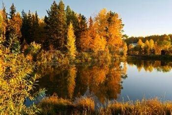10730225-lac-dans-les-rayons-du-coucher-du-soleil-paysage-automne