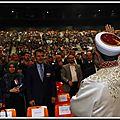 Le grand mufti de turquie fait le zénith de strasbourg