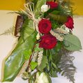 Bouquet de mariée structuré lierre
