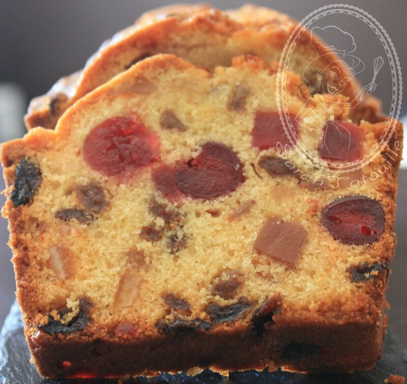 CAKE AUX FRUITS CONFITS avec logo
