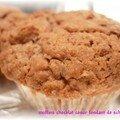 Les meilleurs muffins... version tout chocolat coeur de schokobons... stop!