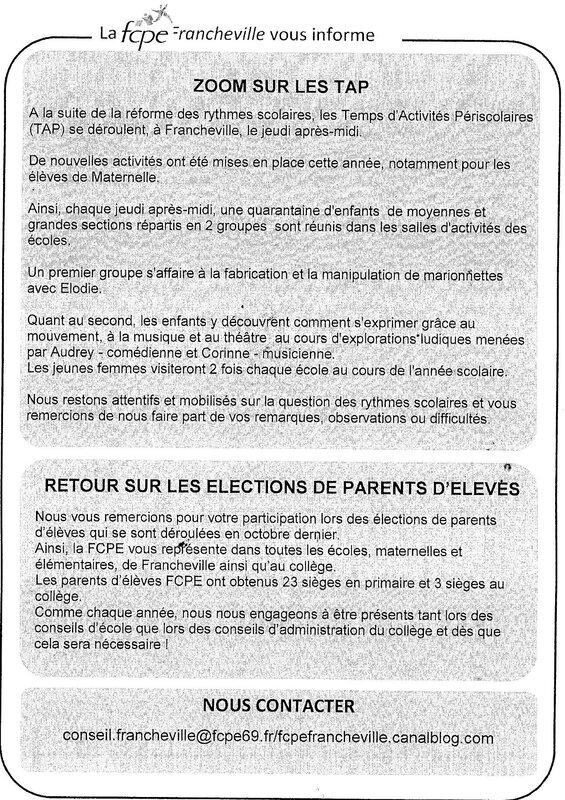 newsletter FCPE 2015 n°2 page 1