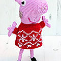 Peppa pig in christmas jumper