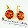 bijoux-mariage-soiree-temoin-cortege-boucles-d-oreilles-Aline-strass-et-cristal-orange-fire-et-rouge