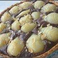 Tarte aux poires, amandes et chocolat