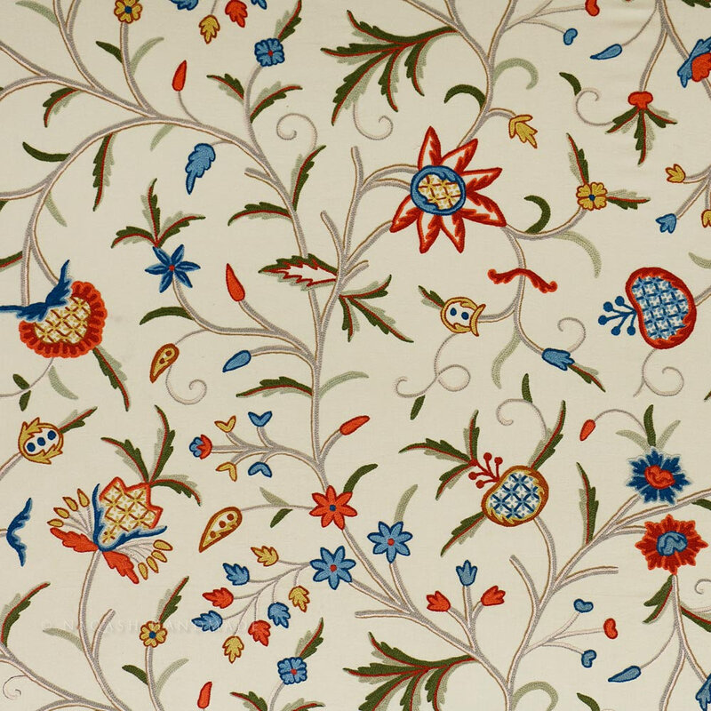 mughal-crewel-work-hand-embroidered-cotton-upholstery-fabric_1crafd bazar