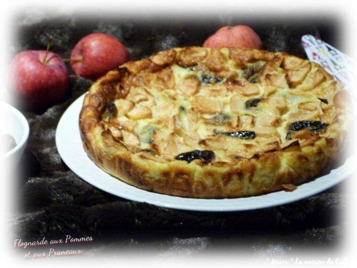 """ღ """" Miam """" Flognarde aux Pommes et aux Pruneaux"""