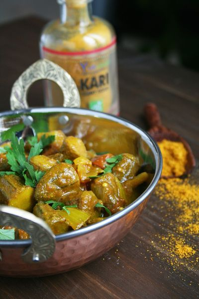 Curry de gombos ou Okra curry 1