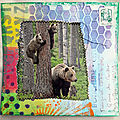 Ours et mixed media