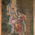 12-Avalokitesvara, 1310, tenture murale, encre et couleurs sur soie, 203 inches x 119 inches, Temple Kagami Jinjya