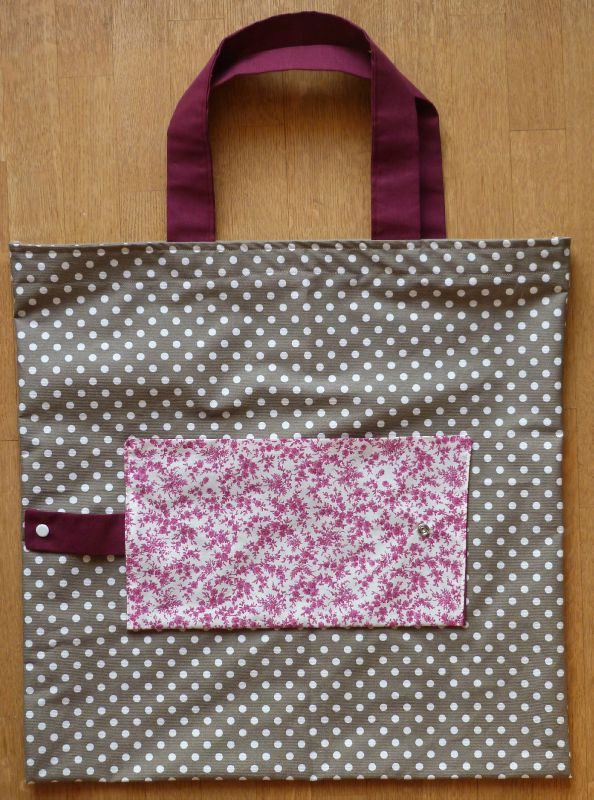 20. sac pliable en toile enduite taupe - liberty violet