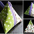 05. vert et violet - effet patchwork - 3 faces