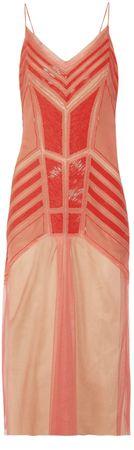 358716 Alberta Ferretti - Beaded silk-chiffon and tulle dress THE OUTNET