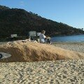 Pause sur une plage, Galice