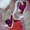 Baskets et tongs au crochet
