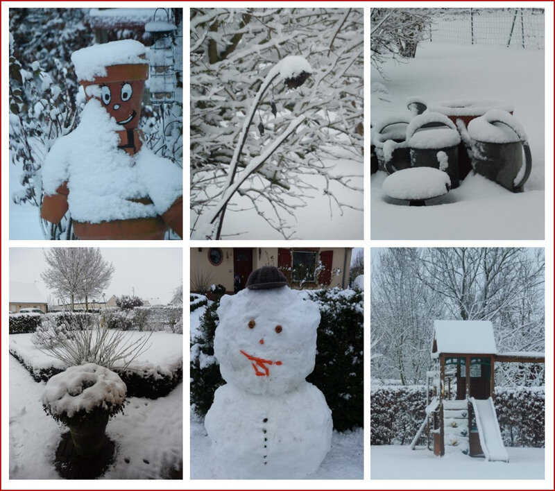 neige au jardin montage